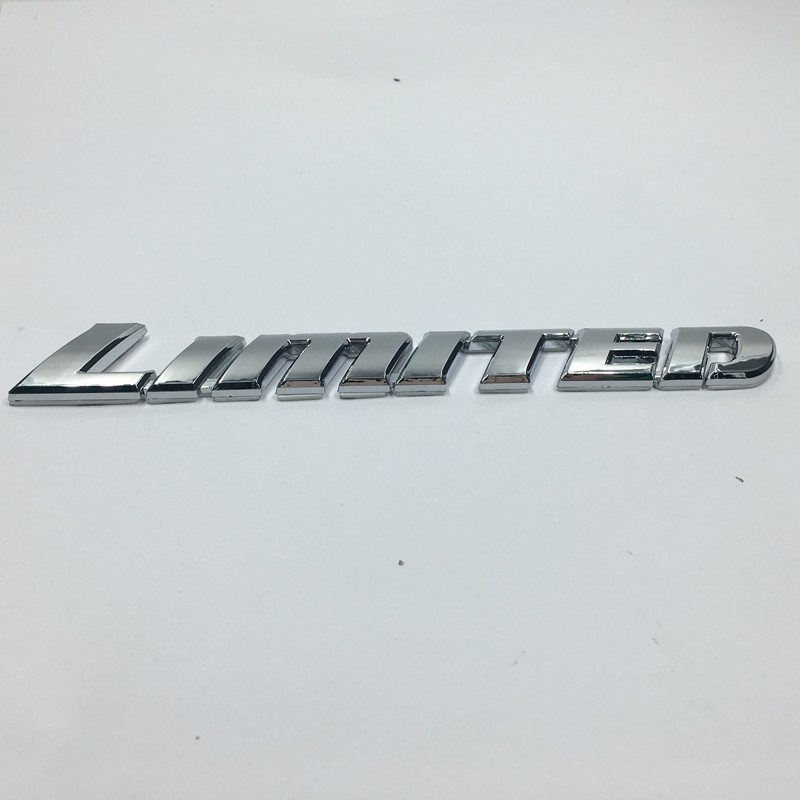 3D LIMITED Silver ABS Plating Auto Car Sticker Badge Decor Fender Tail Emblem
