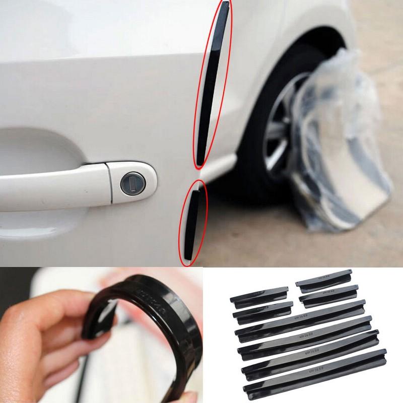 Details about Car Door Guard Edge Bumper 8Pcs Buffer Trim Molding Protection Strip Scratch Bar