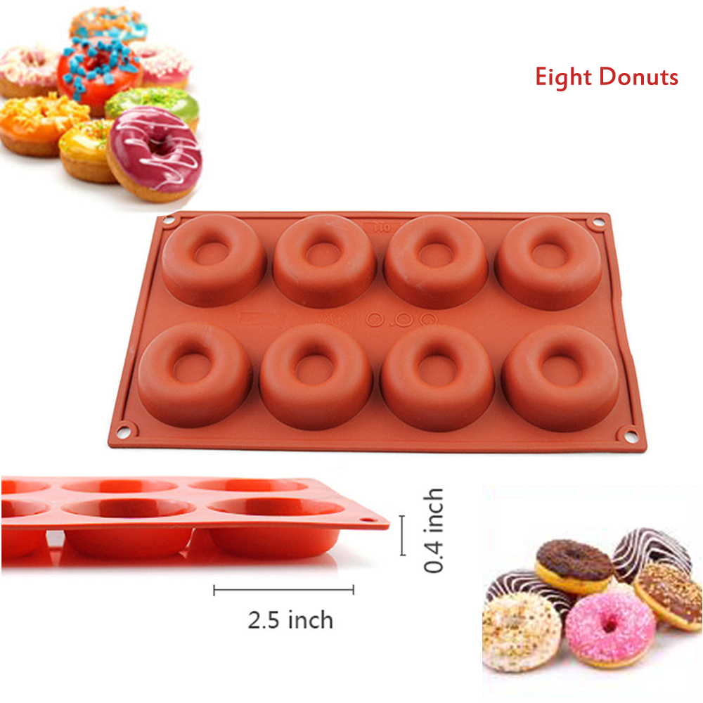 Silicone Mini Bundt Cake Pan Molds Donut Sphere Heart