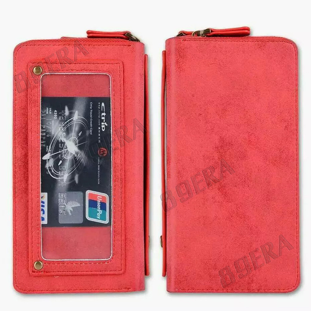 Multifunctional-Zipper-Leather-Card-Cash-Slot-Wallet-Case-For-iPhone-amp-Samsung