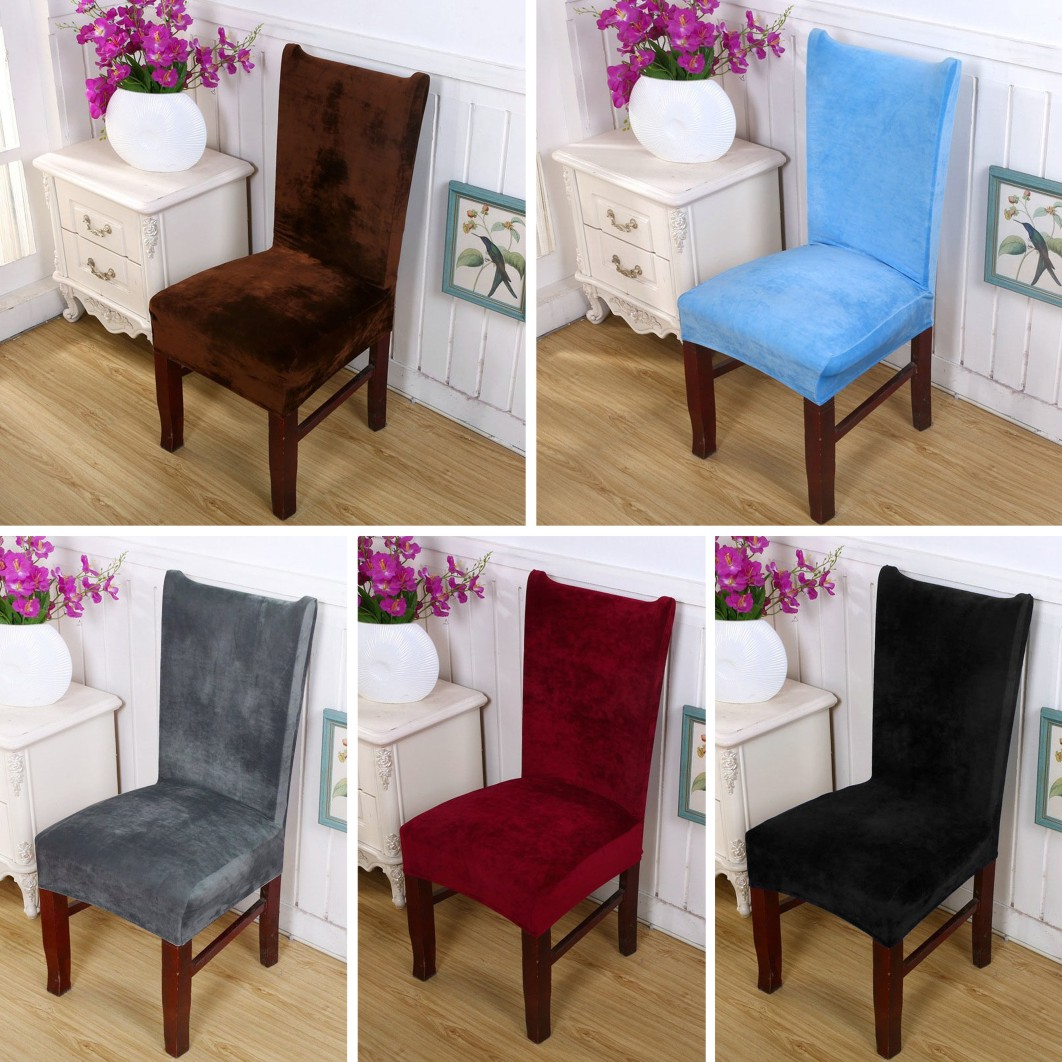Fabric Chair Covers For Dining Room Chairs: Chair Covers Removable Stretch Slipcovers Dining Room Fox