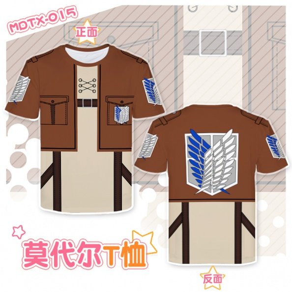 Anime FAIRY TAIL Natsu Casual Short Sleeve T-shirt Unisex Tops Cosplay #K45G