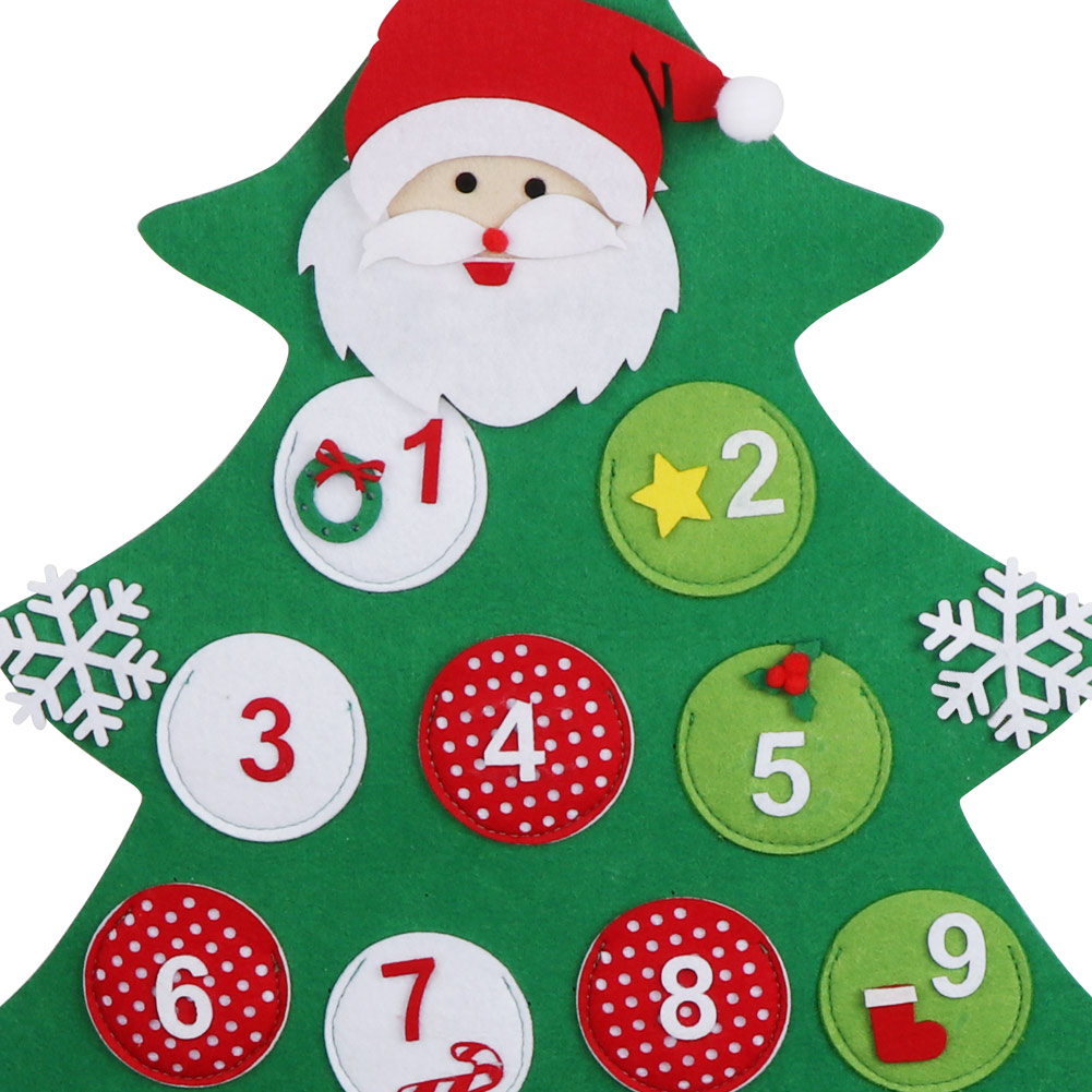 felt christmas advent calendar hanging christmas countdown calendar home decor