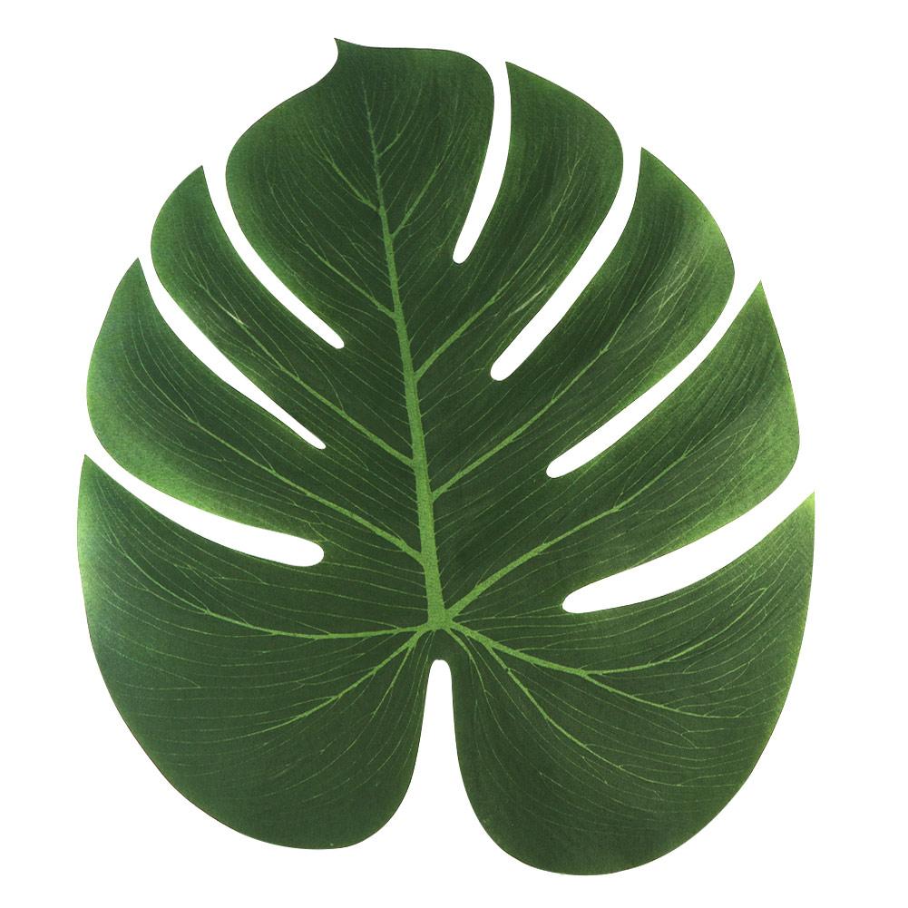 Leaves Decoration: 48Pcs Large Tropical Palm Leaves For Hawaiian Luau Moana
