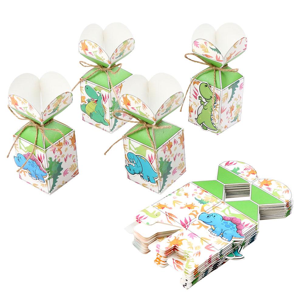 12x Dinosaur Candy Box Gift Boxes Kids Animal Dinosaur Birthday Party Gift Bags