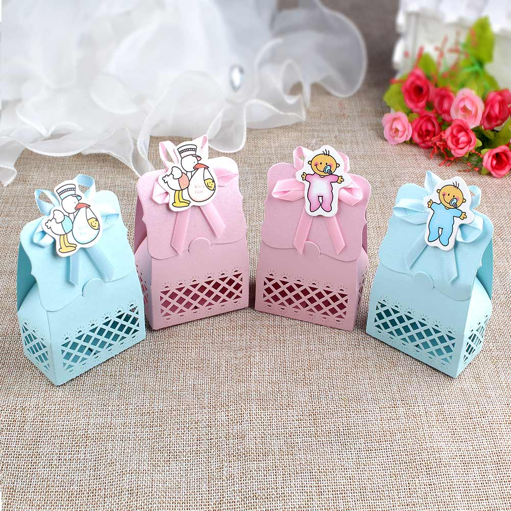 12PCS Baby Shower Favor Box Baptism Birthday Party Candy Boxes ...