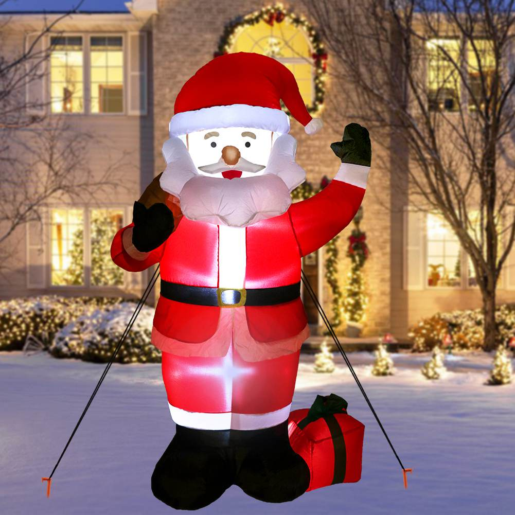 Christmas Inflatable.Details About 6ft Christmas Inflatable Santa Claus Air Blown Light Up Outdoor Yard Event Decor
