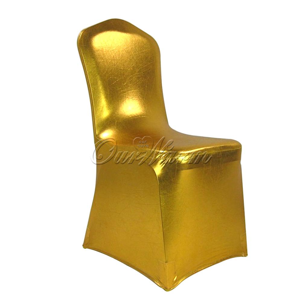 bronzing elastic chair cover banquet wedding spandex chair top