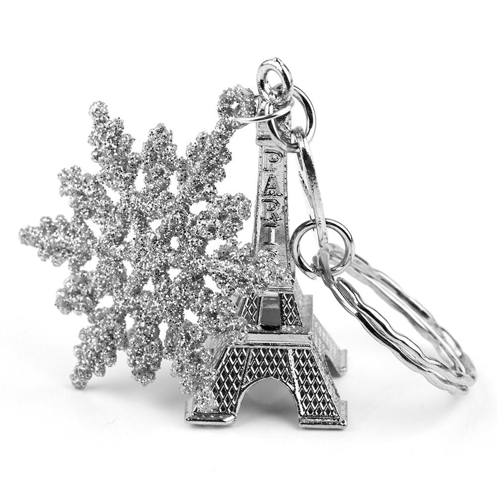 10PCS Paris Eiffel Tower Keychain Snowflakes Gift Decorations ...