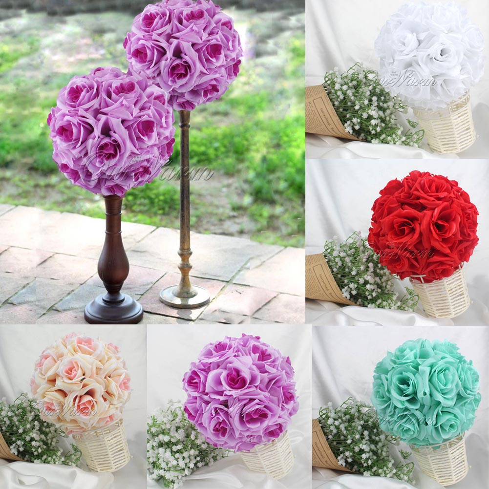 10qty Rose Flower Ball Artificial Pomander Bouquet Kiss Ball Wedding