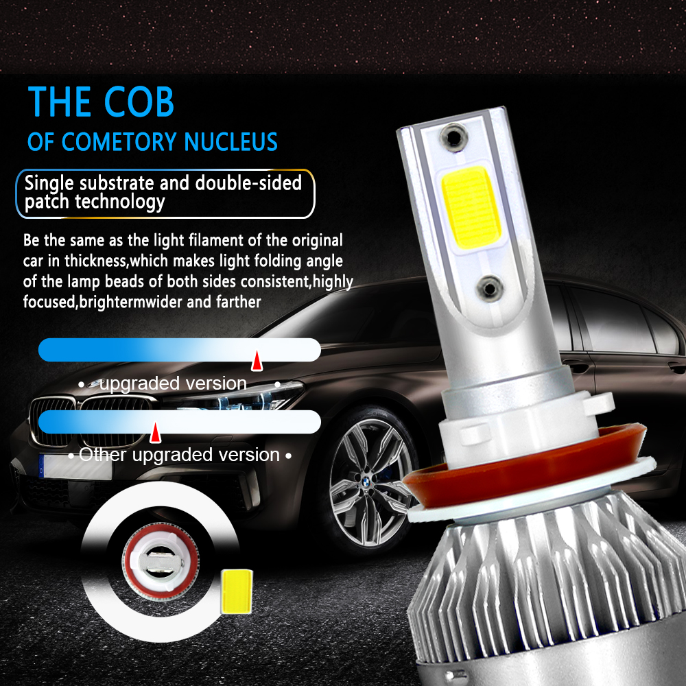 4Pcs H11 H9 LED Headlight for Nissan Sentra Pathfinder ...