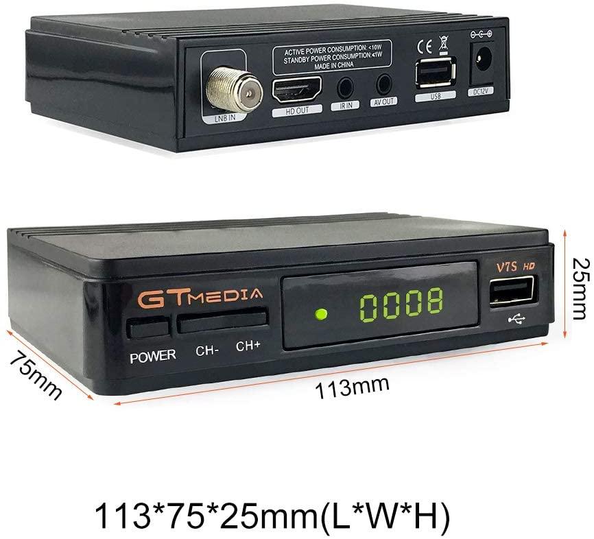 Gtmedia V7S HD Satellite Receiver H.264 1080P DVB-S/S 2