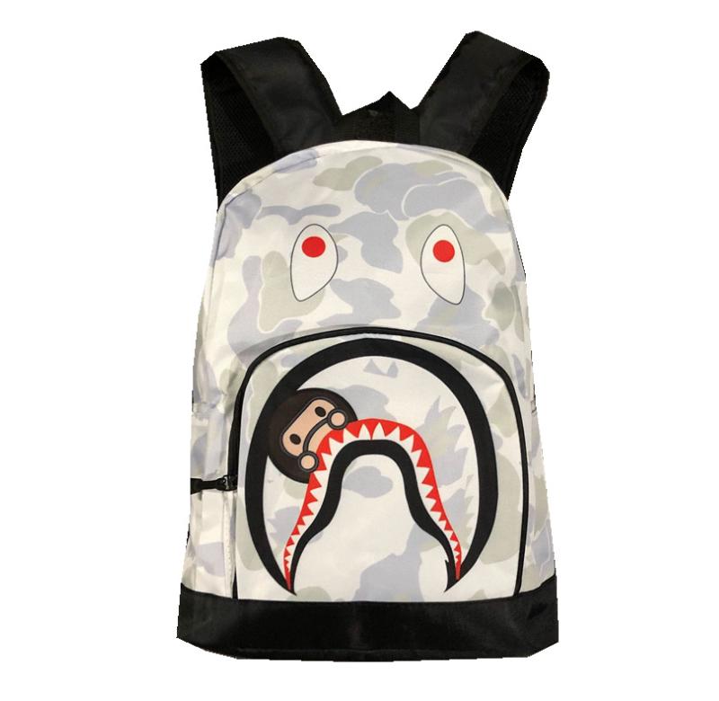 Japan A Bathing Ape Starry Bape White Camo Backpack Bookbag School Shoulder Bag