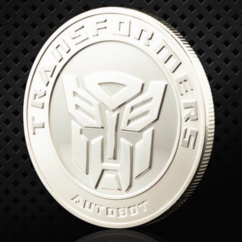 5PCS Avengers Alliance Transformers Iron Man Comic Hero Gold Plated Coin