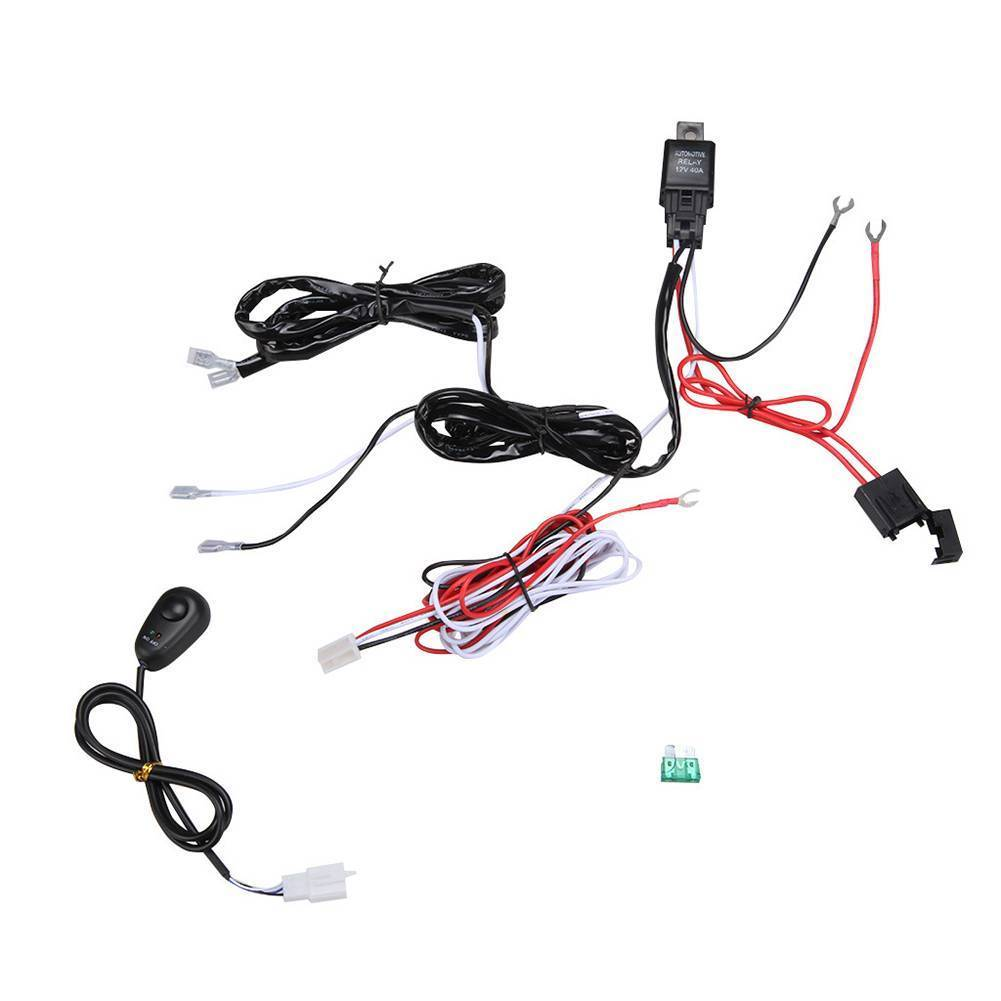 12v 40a remote control wiring harness strobe switch relay led fog light bar kit