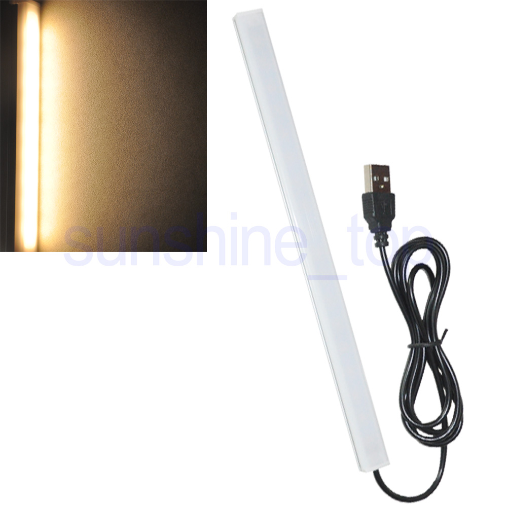 USB LED Schreibtischlampe Tischlampe Leselampe 10cm 9-2835-SMD 1W Natur weiss