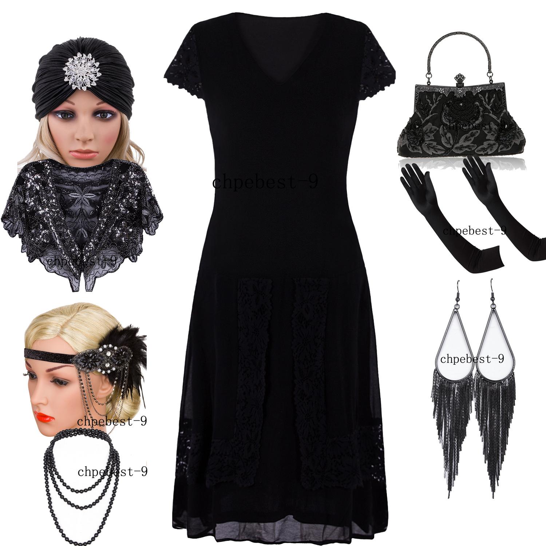 47d4df524b3 Great Gatsby Sequin Beads Fringe Dresses 20s 1920s Flapper Fancy Dress Plus  Size 4 6 8 10 12 14 16 18 20