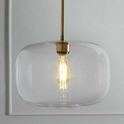 Modern Chandelier Pendant Lamp Kitchen Island Light Ceiling Clear Glass Fixtures Ebay