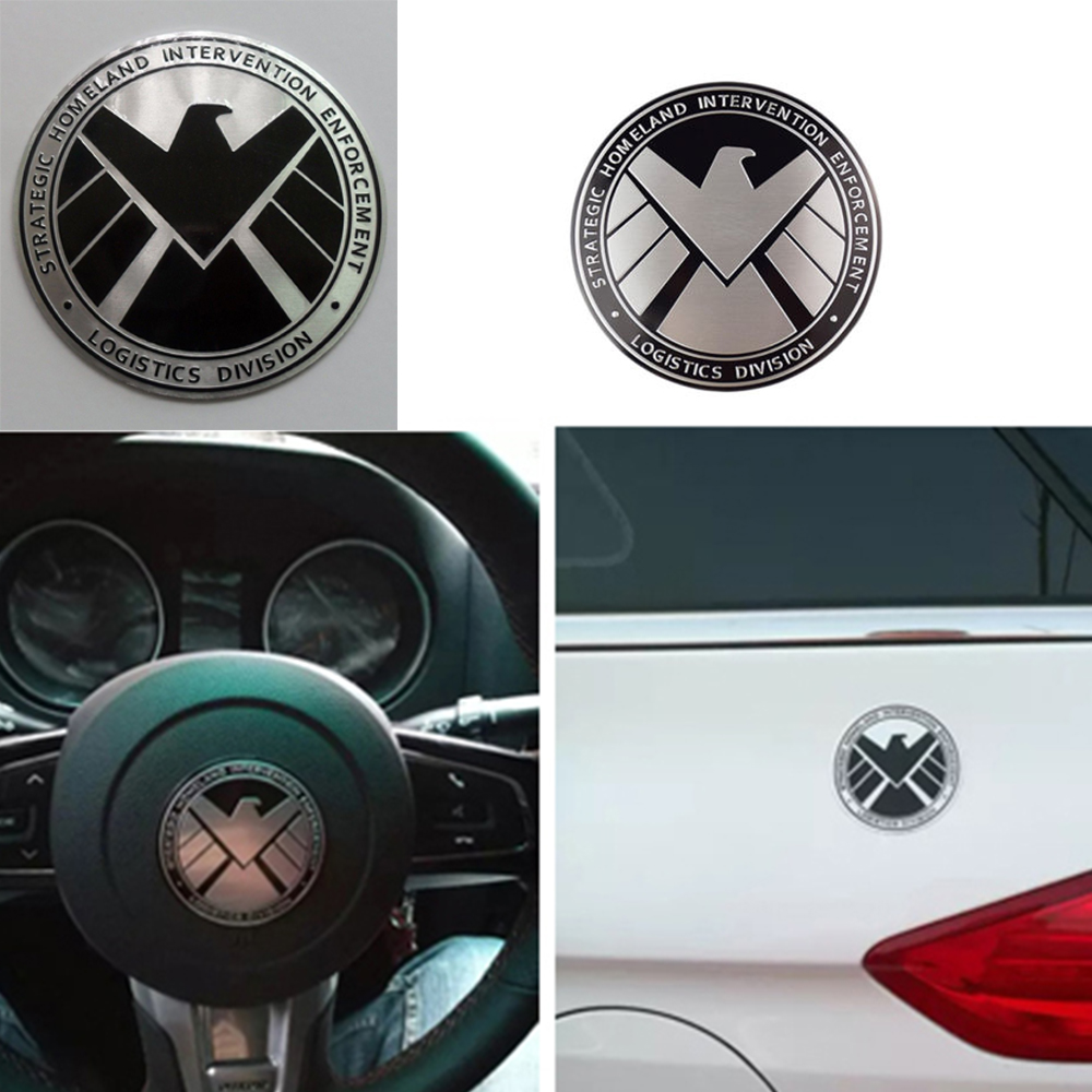 Avengers Marvel Agents Of Shield 3d Chrome Metal Car Sticker Badge