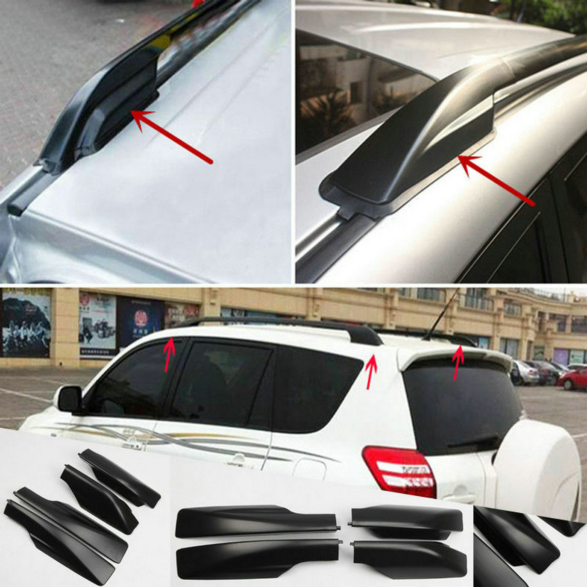 Fit For  Toyota RAV4 XA30 2006-2012 Roof Rack Cover Rail End Shell Replacement