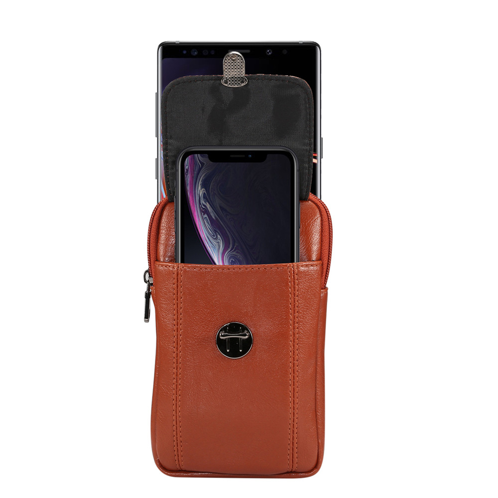 Men/'s Faux Leather Cell Phone Card Pouch Case Cover Hand Bag Purse Fanny Pack PU