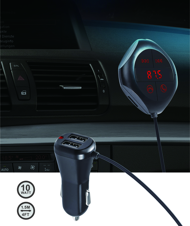 Bluetooth-Car-FM-Transmitter-Wireless-Radio-Adapter-USB-Charger-For-iPhone-5-6-7