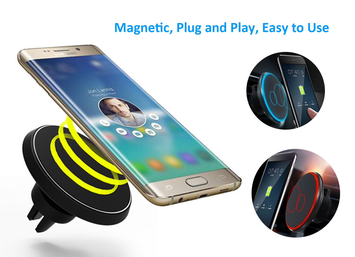 Details about Fast Qi Wireless Car Charger Air Vent Mount Holder For iPhone X 8 Samsung S8 S7