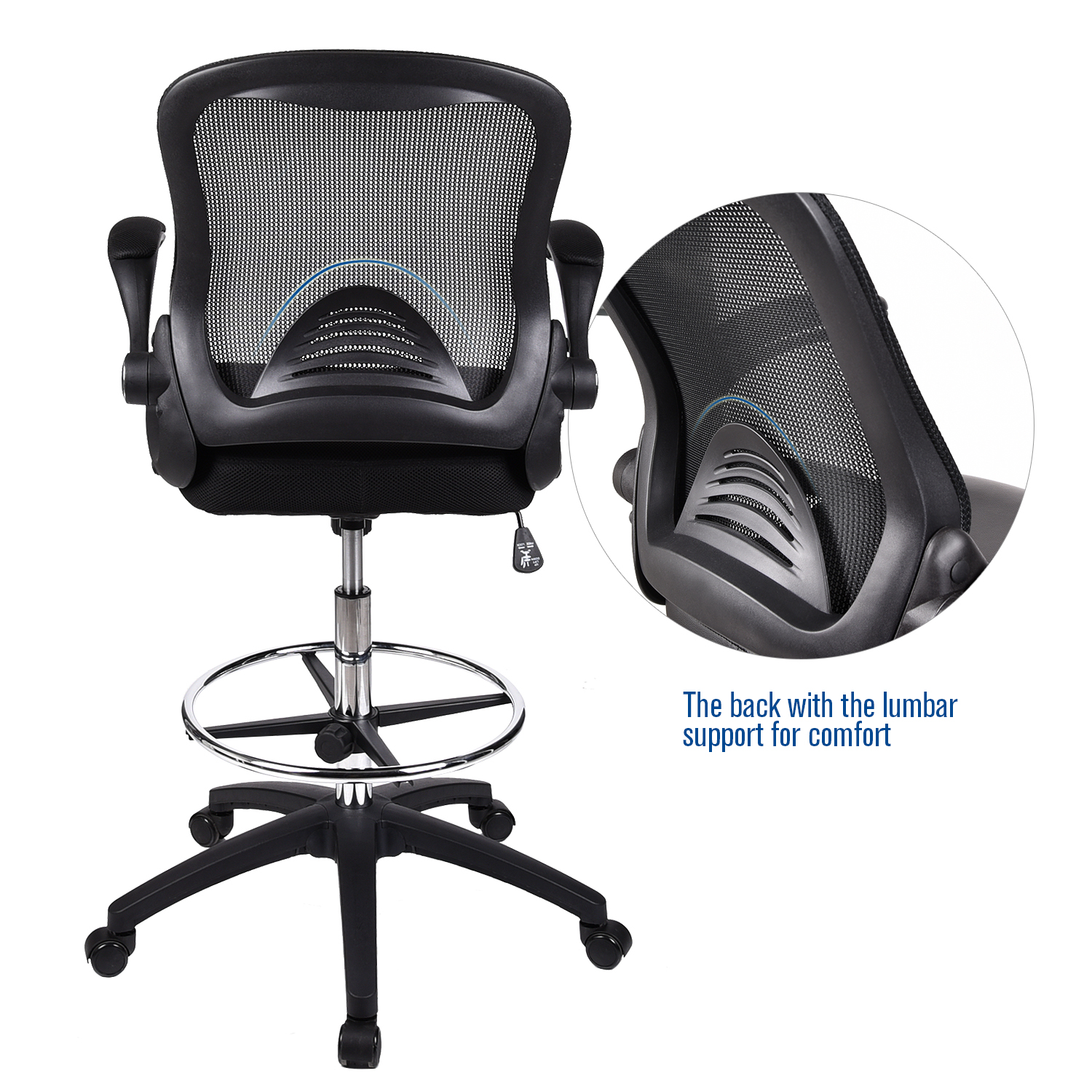 Racing Style Gaming Chair Computer Drafting Stool High