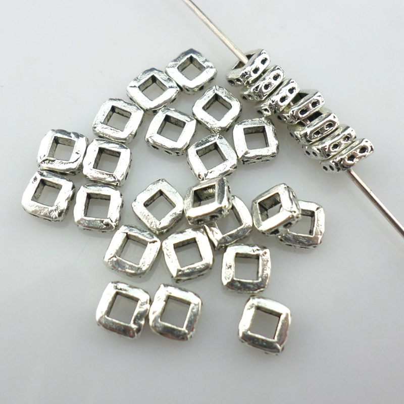 100//200pcs Tibetan Silver 3x5mm Charm Small Spacer Beads Crafts Jewelry Making