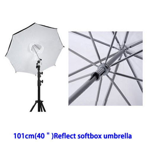 "Reflective Umbrella Softbox: Photo Studio Lighting Umbrella Softbox 101cm / 40"" Black"