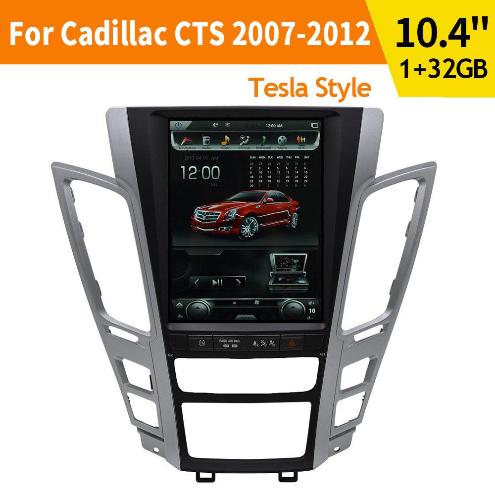 10.4'' Tesla Style Car GPS Navigation HD Nav For Cadillac