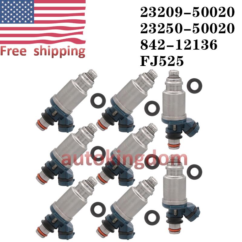 8 pcs OEM Denso Fuel Injectors For Lexus SC400 LS400 1992-1997 4.0L 23250-50020