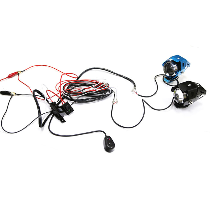 us wiring harness kit line 40a 12v switch relay harness for 2 led work light bar 714497357546