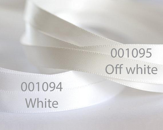 4 Yard Wedding Bridal Satin Ribbon,Duble Faced Satin Ribbon Choose Color
