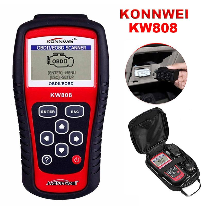 KONNWEI KW808 OBD2 EOBD MIL Reset Live Data Check Engine Diagnostic Scanner  Tool | eBay