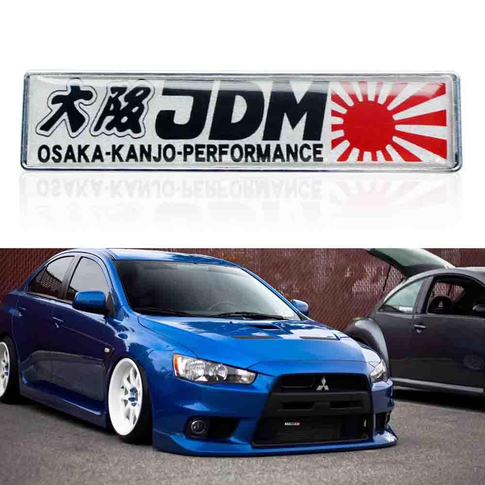 Osaka JDM KANJO Mods Flag Emblem Plate Badge For Front Rear Side