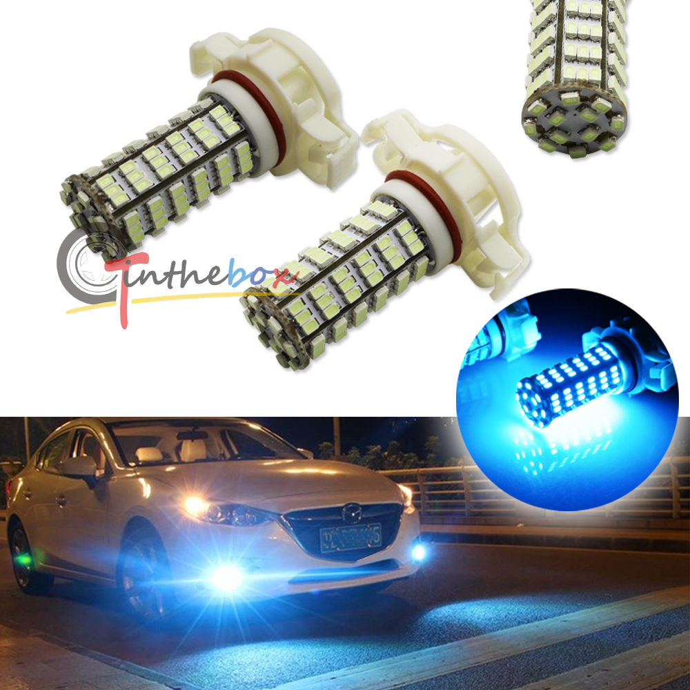 10000k Ice Blue 120 Smd 5202 H16 Led Light Bulbs For Fog 2504 Ps24w Adapter Lights Drl Relay Wiring Harness Ebay Driving Lamps