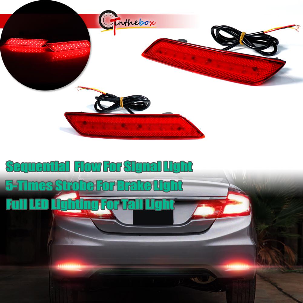 Garage-Pro Rear Bumper Reflector for HONDA CIVIC 2013-2015 LH Sedan