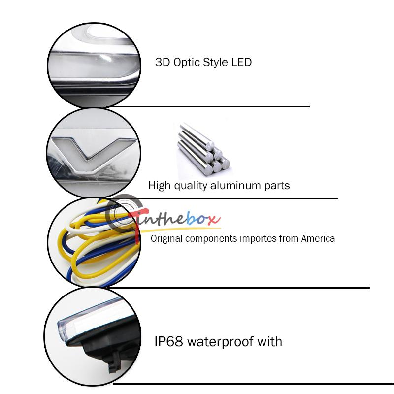 2x Switchback Amber Side Marker w/ DRL White LED Lights For 10th Gen ...