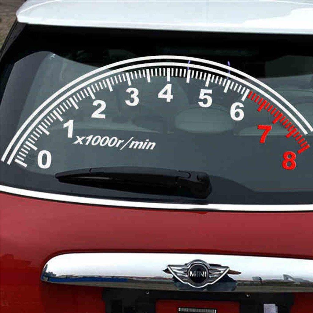 Details about 1pc creative jdm speedometer 1000r min rear windshield vinyl car sticker decal