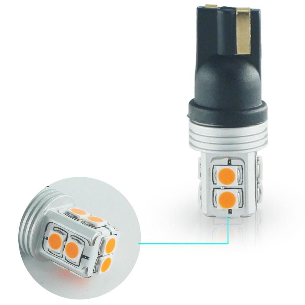 2pcs Amber Error Free Led Side Mirror Light Bulbs Fit 2007