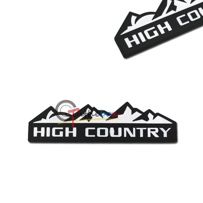 1pc 3d metal high country rear emblem badge sticker for
