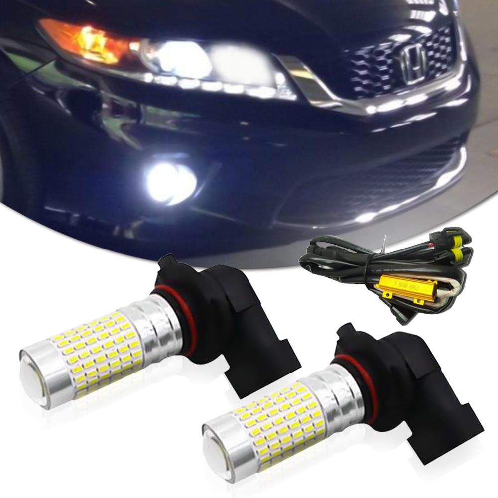 White 9005 144-SMD LED Daytime DRL Lights Kit For Acura ILX TSX MDX TL RL Honda