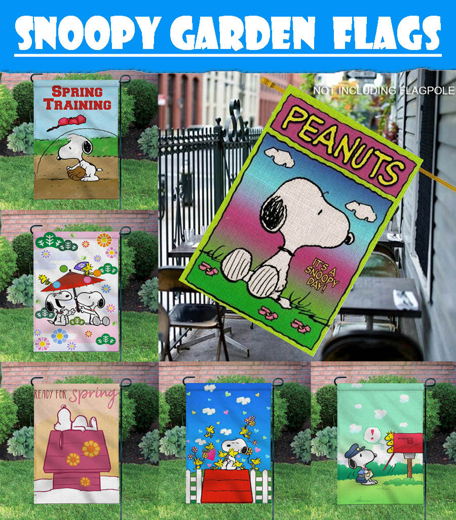Outdoor Yard Sweet Dream Snoopy 12X18 Inch Banner//Sign Double-sided Garden Flags