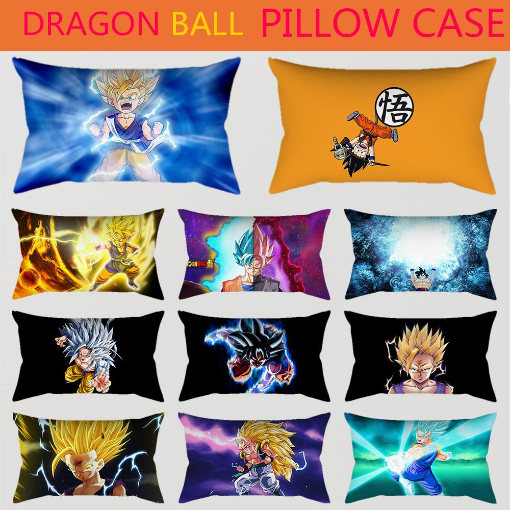 Dragon Ball Z Home Decor Sofa Cushion Cover Peach Skin Pillowcases Super Saiyan