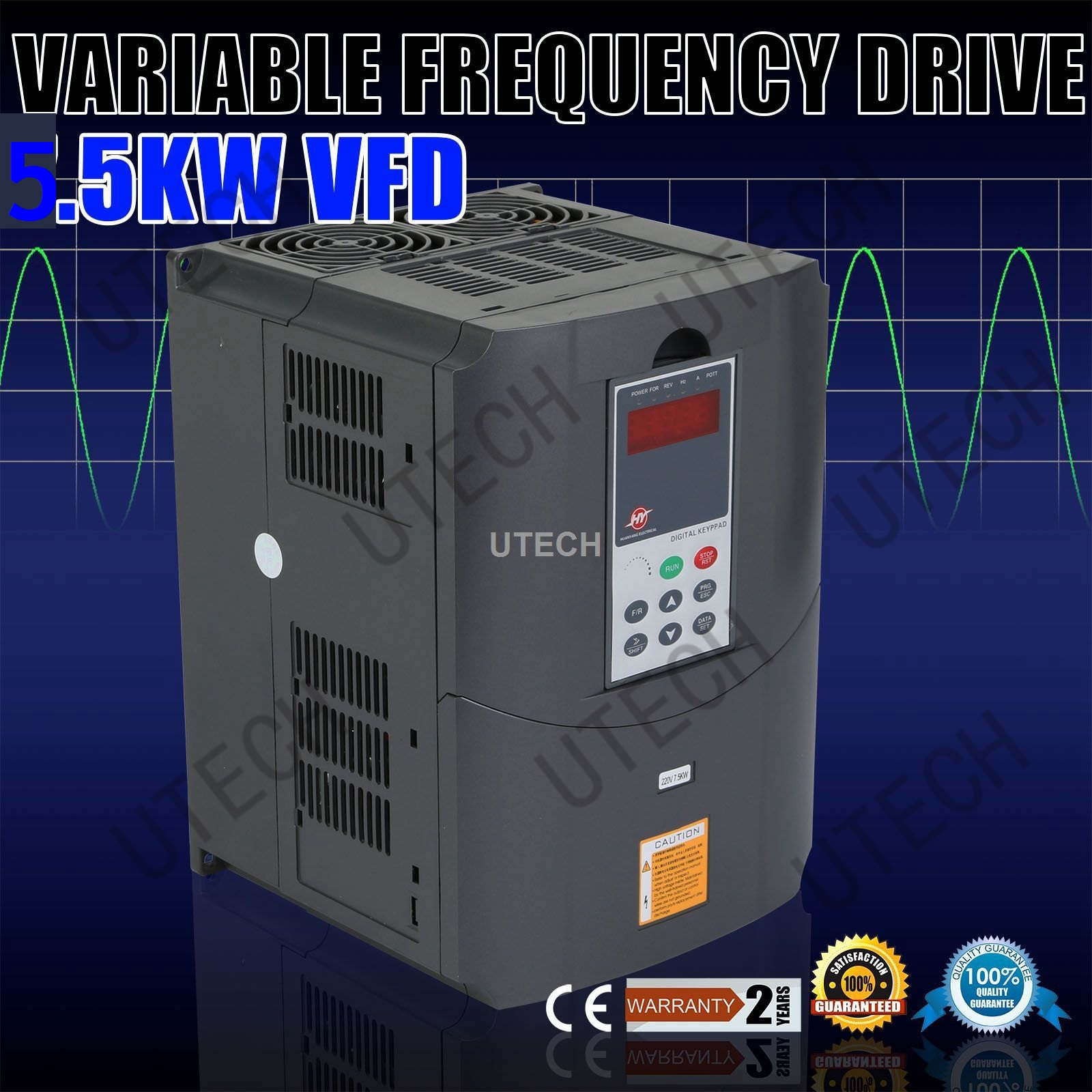 NEW VARIABLE FREQUENCY DRIVE INVERTER VFD 5.5KW 220V 7.6HP 25A
