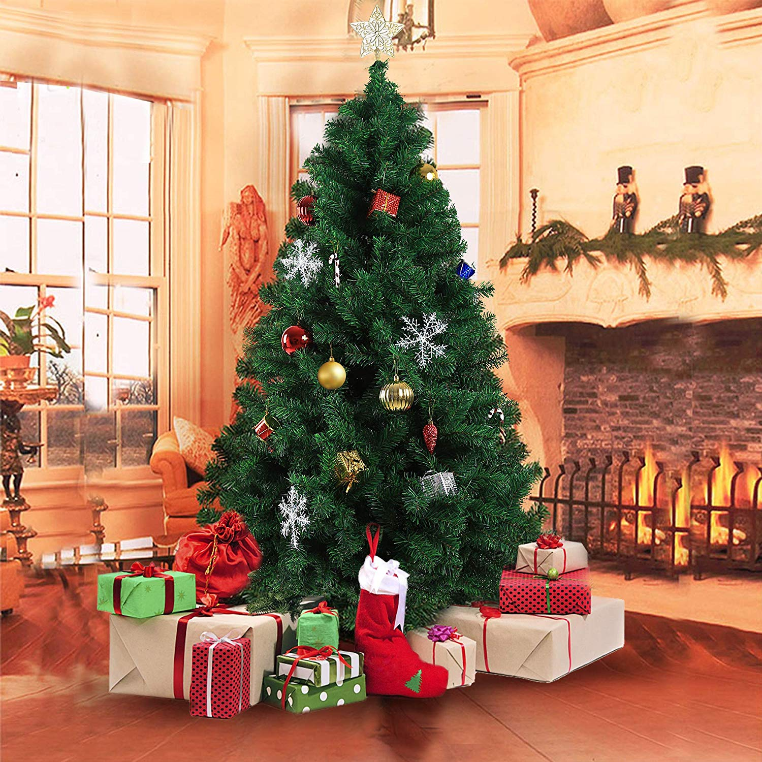 Christmas Tree Auction: UK 4ft 5ft 6ft Christmas Tree Decorations Home Decor