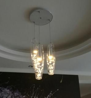 New modern led crystal glass ceiling light pendant lamp chandelier real photo aloadofball Choice Image
