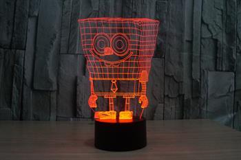 3d spongebob squarepants night light 7 color change led desk table description aloadofball Choice Image