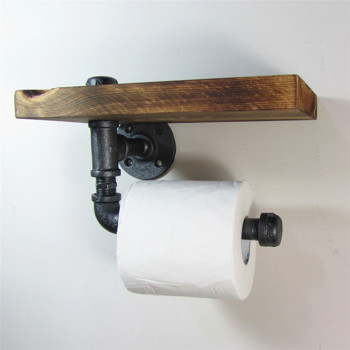 Industrial Urban Rustic Iron Pipe Toilet Paper Holder Roller With Impressive Paper Dispensers Bathroom Style